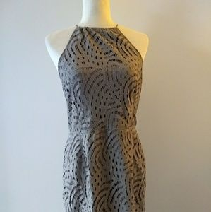 Missguided Lace Open Back Dress Size 12